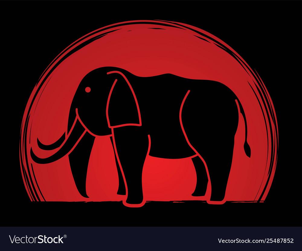 Elephant cartoon graphic