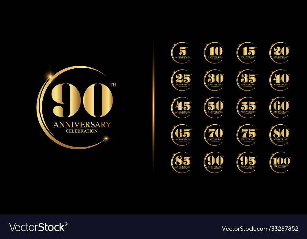 Golden anniversary celebration emblem design