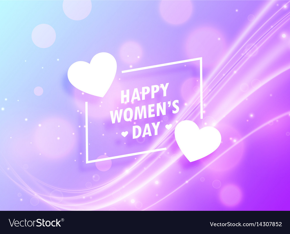 Happy womans day greeting design background for