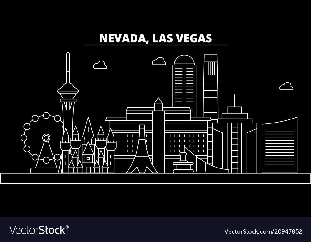Las vegas silhouette skyline usa - las vegas