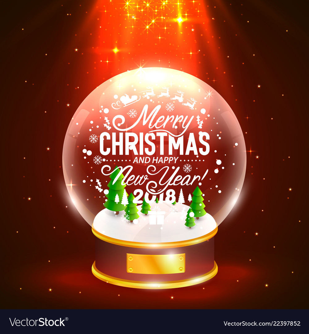 Merry Christmas Poster 2018.Merry Christmas And Happy New Year 2018
