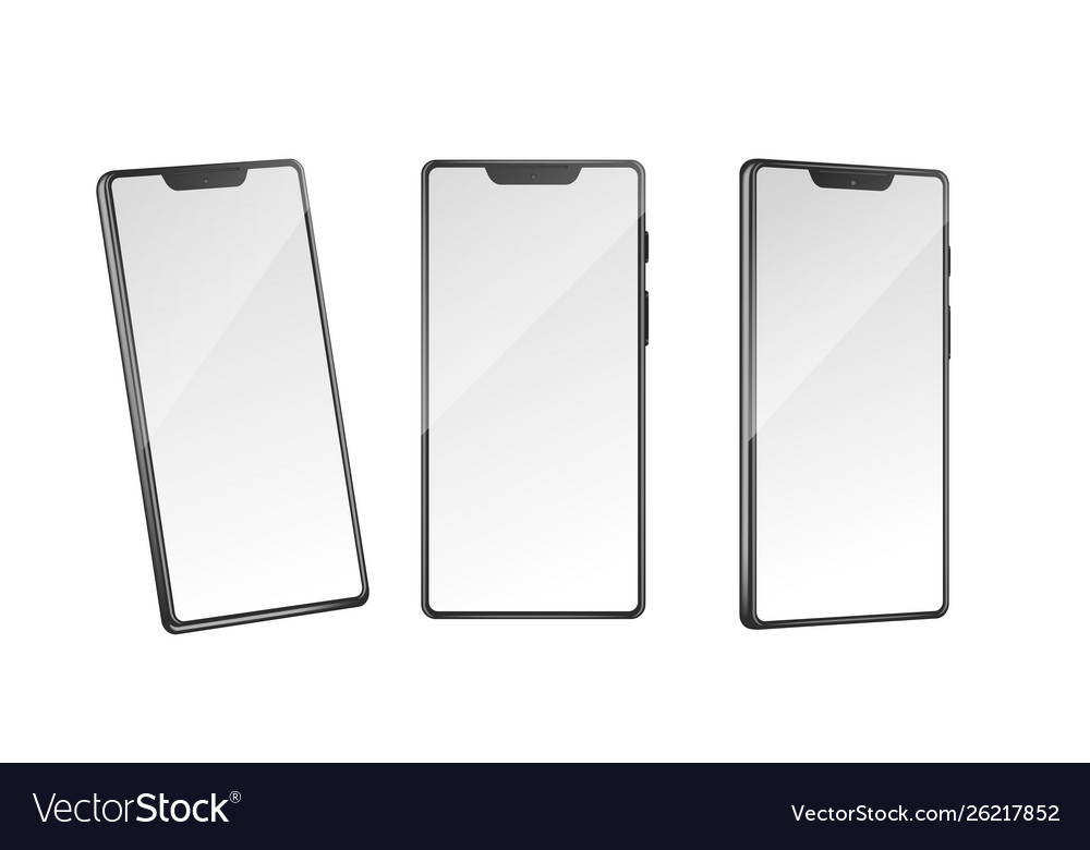 Realistic detailed 3d white blank smartphone