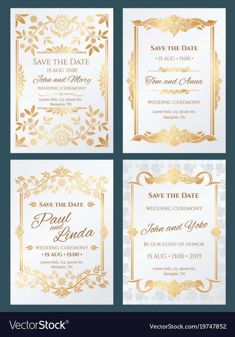 Save the date luxury wedding invitation