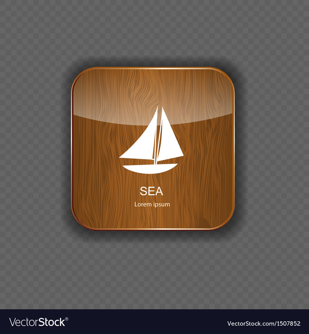 Sea wood application icons