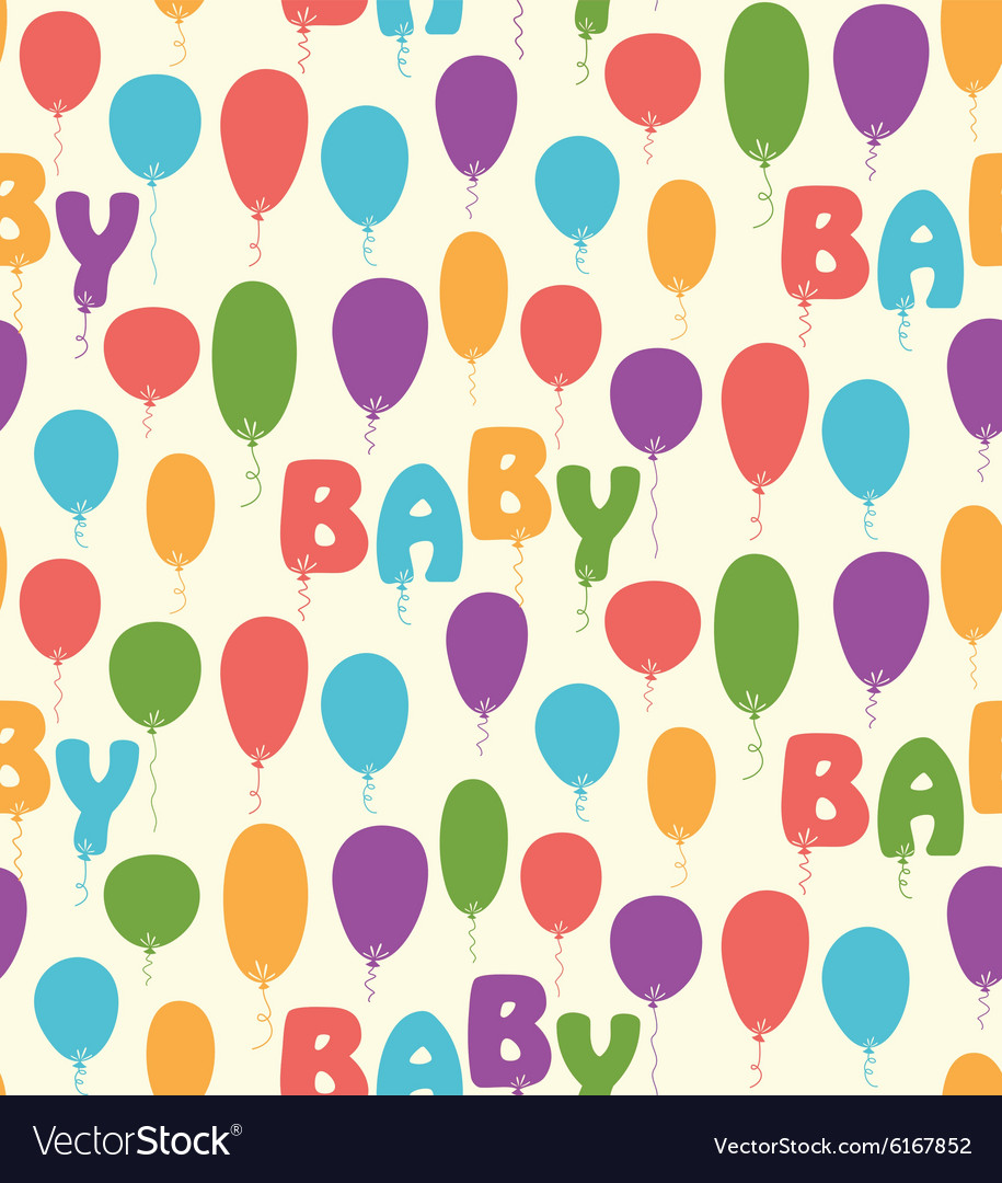 Seamless pattern with colorful baloons