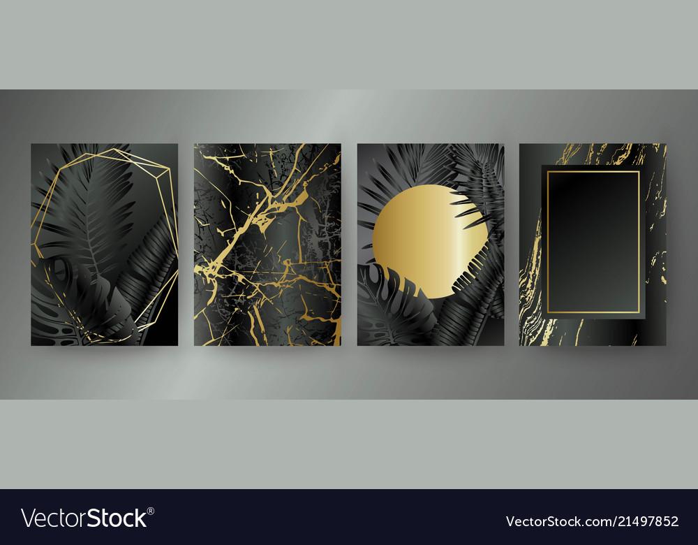 Set of elegant brochure card background cover
