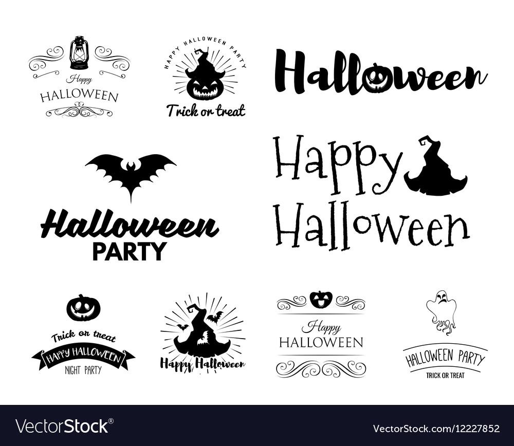 Smile Pumpkin Bat Spiderweb Witch HatHalloween