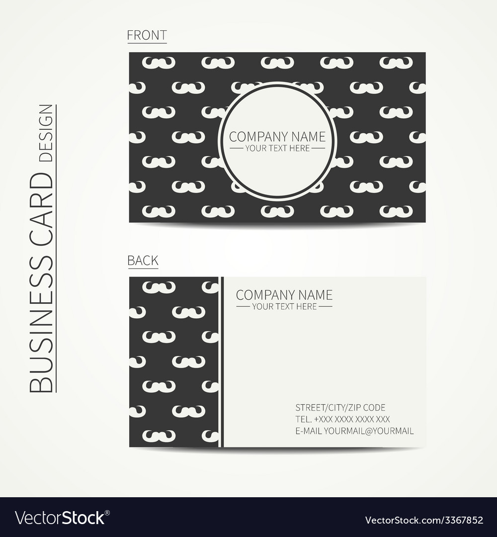 Vintage creative simple business card template