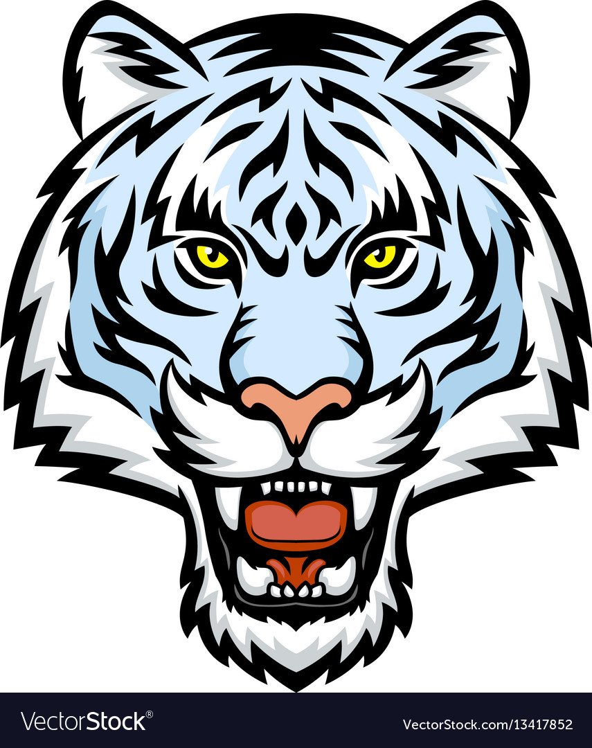 white tiger head logo royalty free vector image rh vectorstock com mizzou tiger head logo missouri tiger head logo