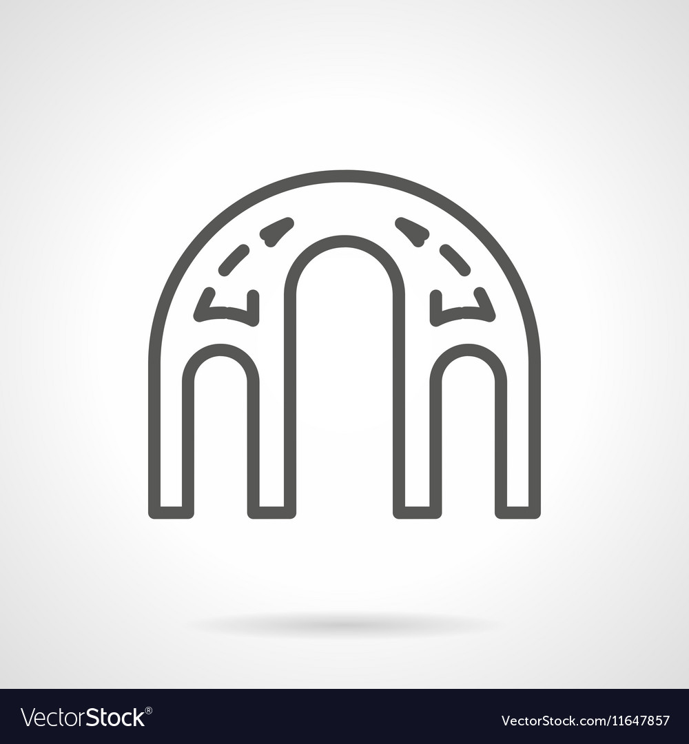 Architectural elements black line icon
