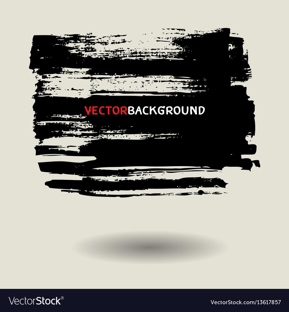 Black brush texture background set