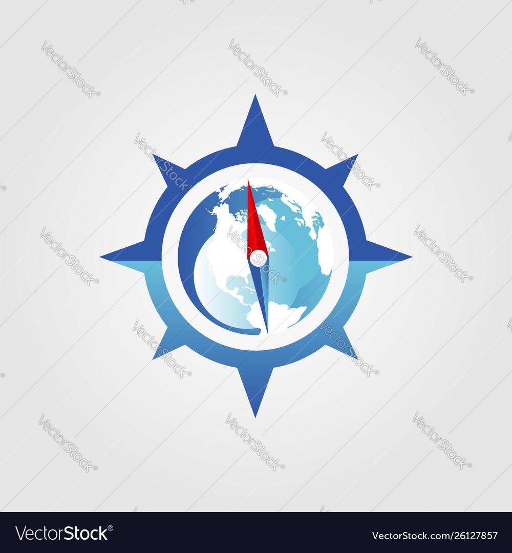Global compass logo sign symbol icon