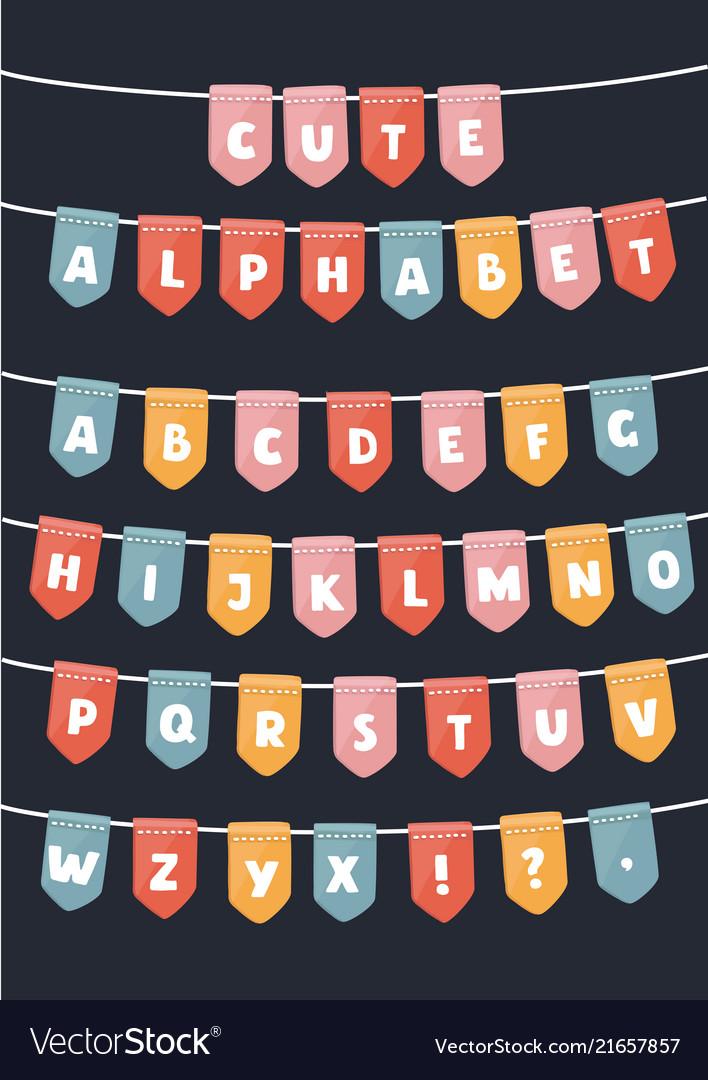 Latin alphabet flags parties