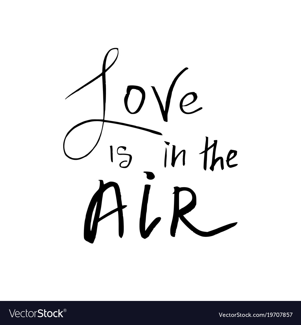 Love Is In The Air Happy Valentines Day Card Vector Image