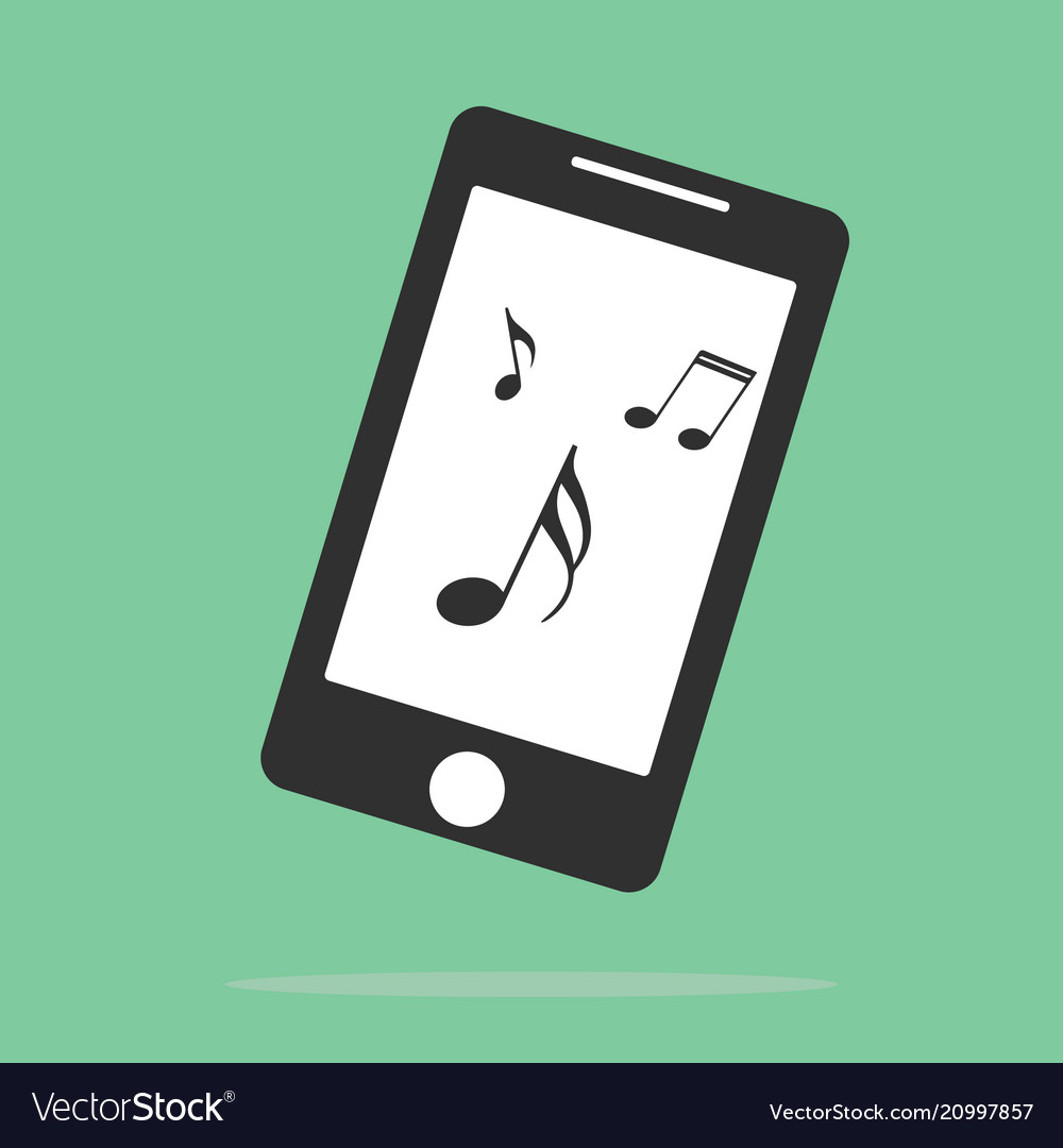 Music on your smartphone icon elements of web