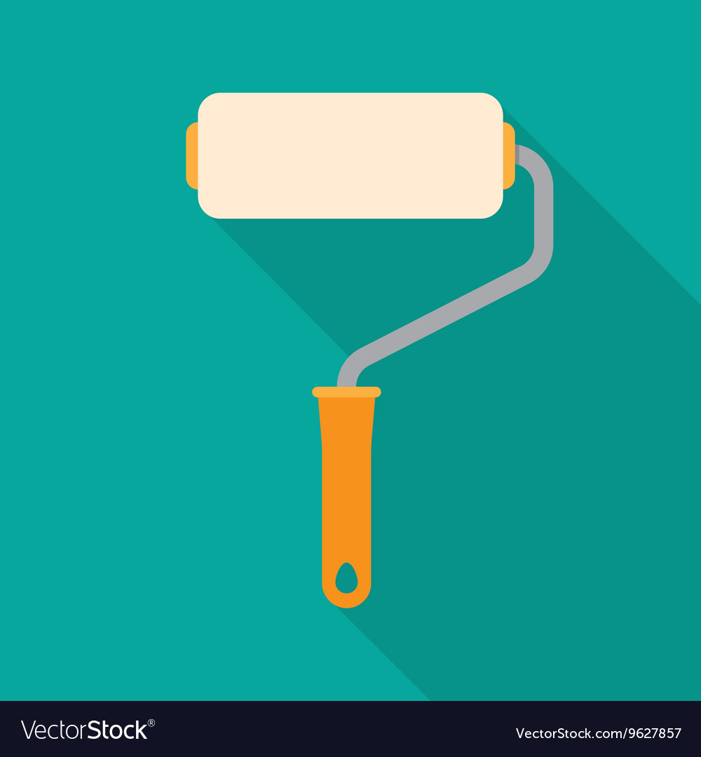 Paint roller flat icon