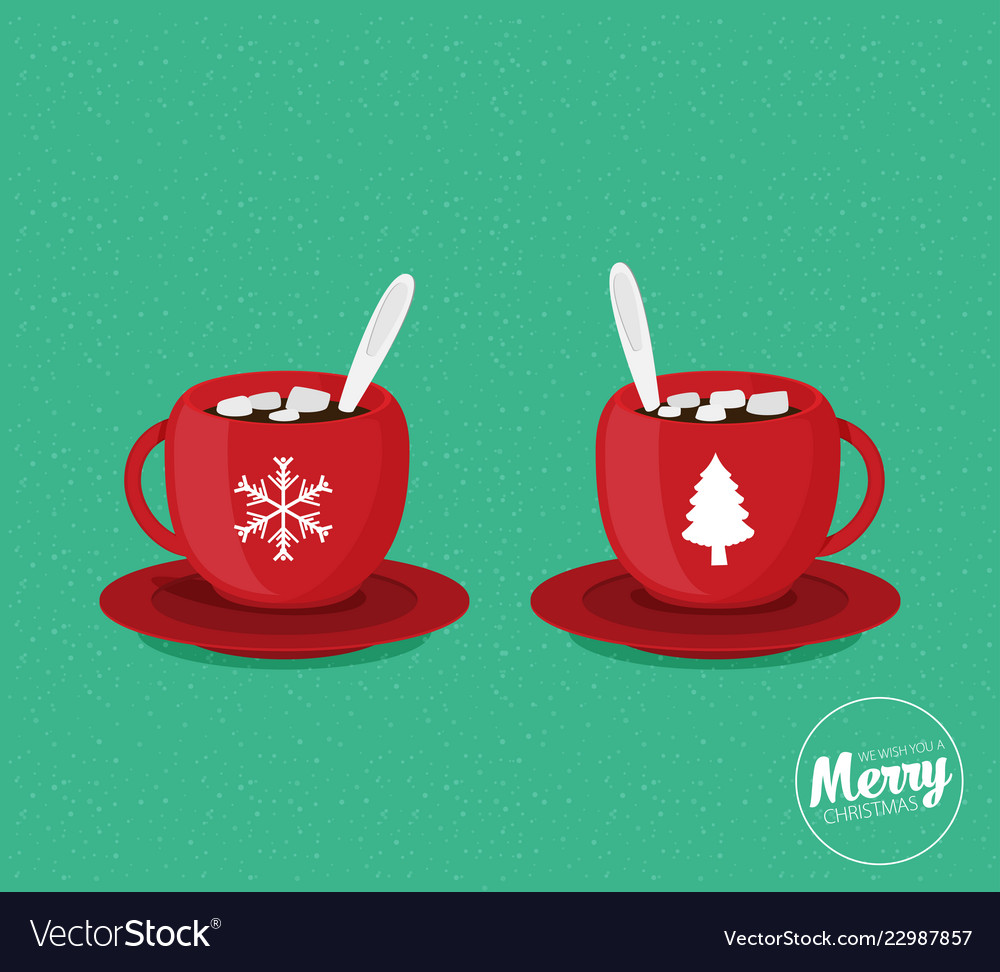 Christmas Coffee Mugs.Red Christmas Coffee Mugs