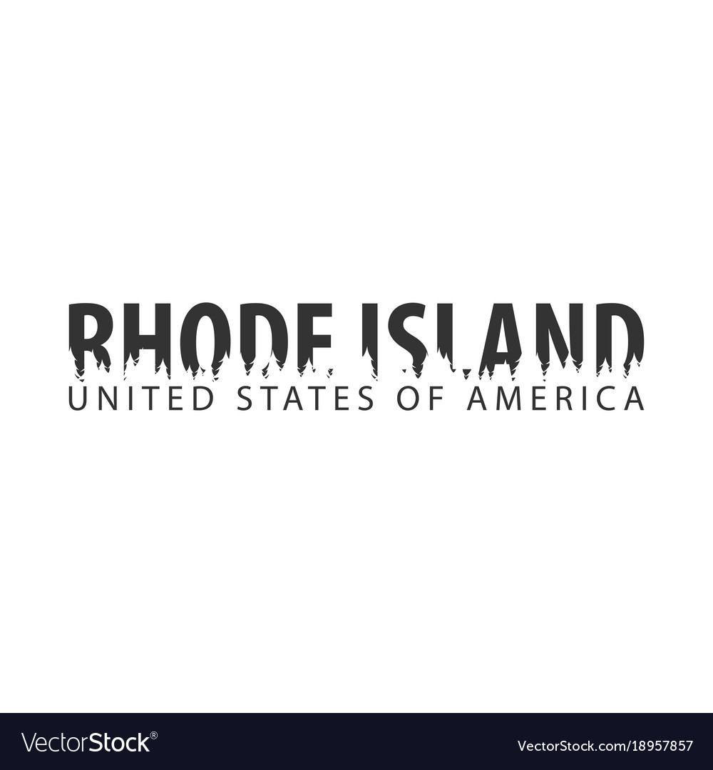 Rhode island usa united states of america text