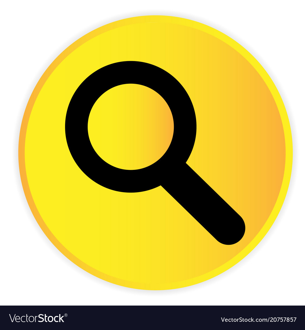 Search icon yellow circle frame background