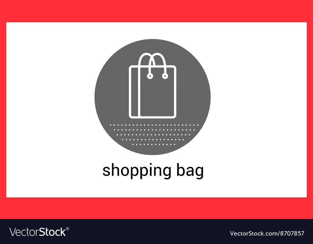 Shopping bag contour outline