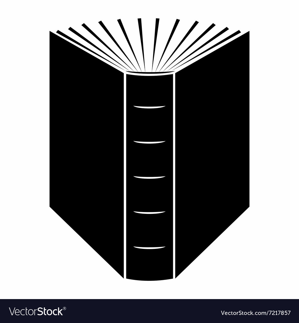 the end of open book black simple icon royalty free vector