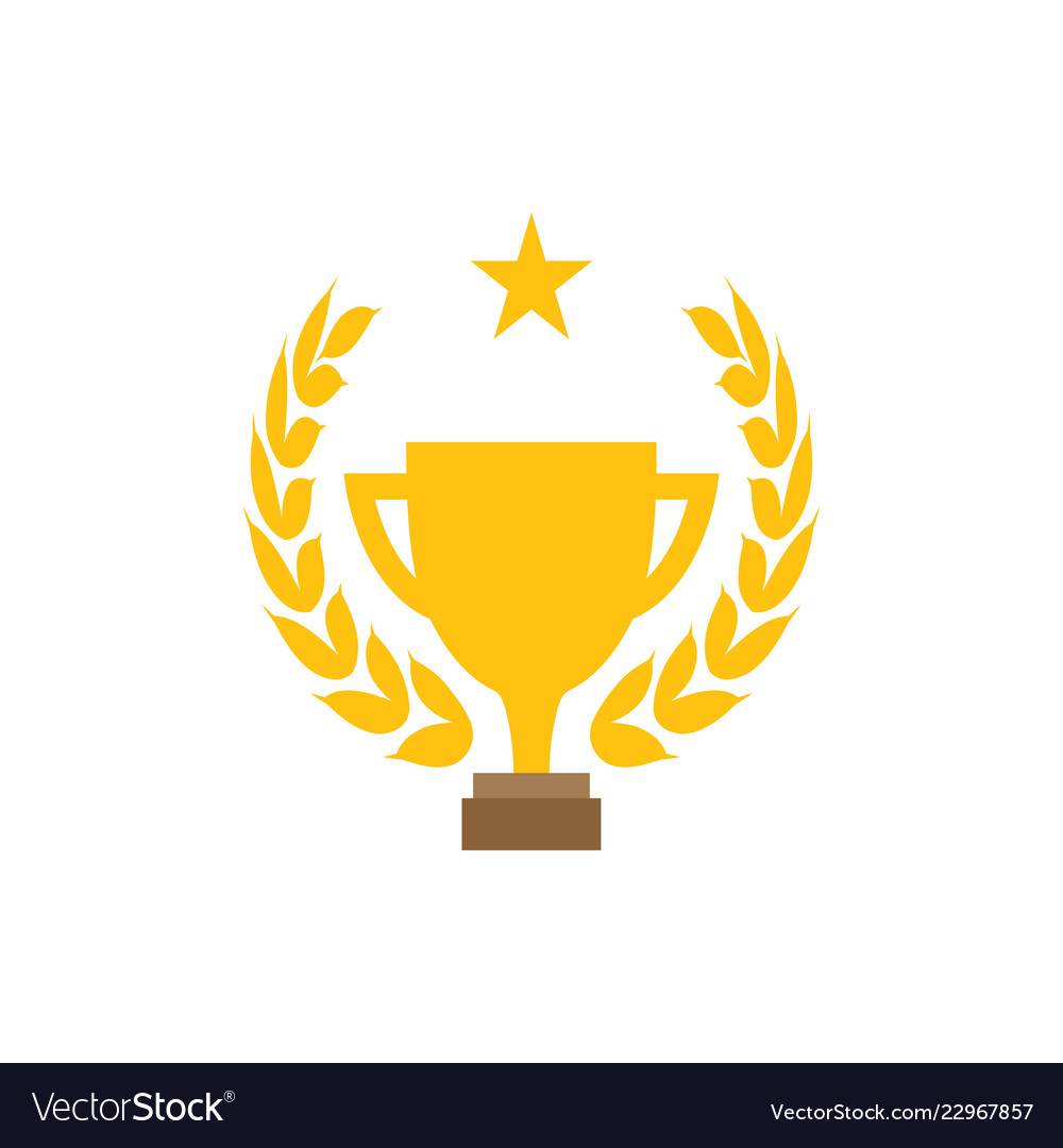 trophy cup graphic design template royalty free vector image