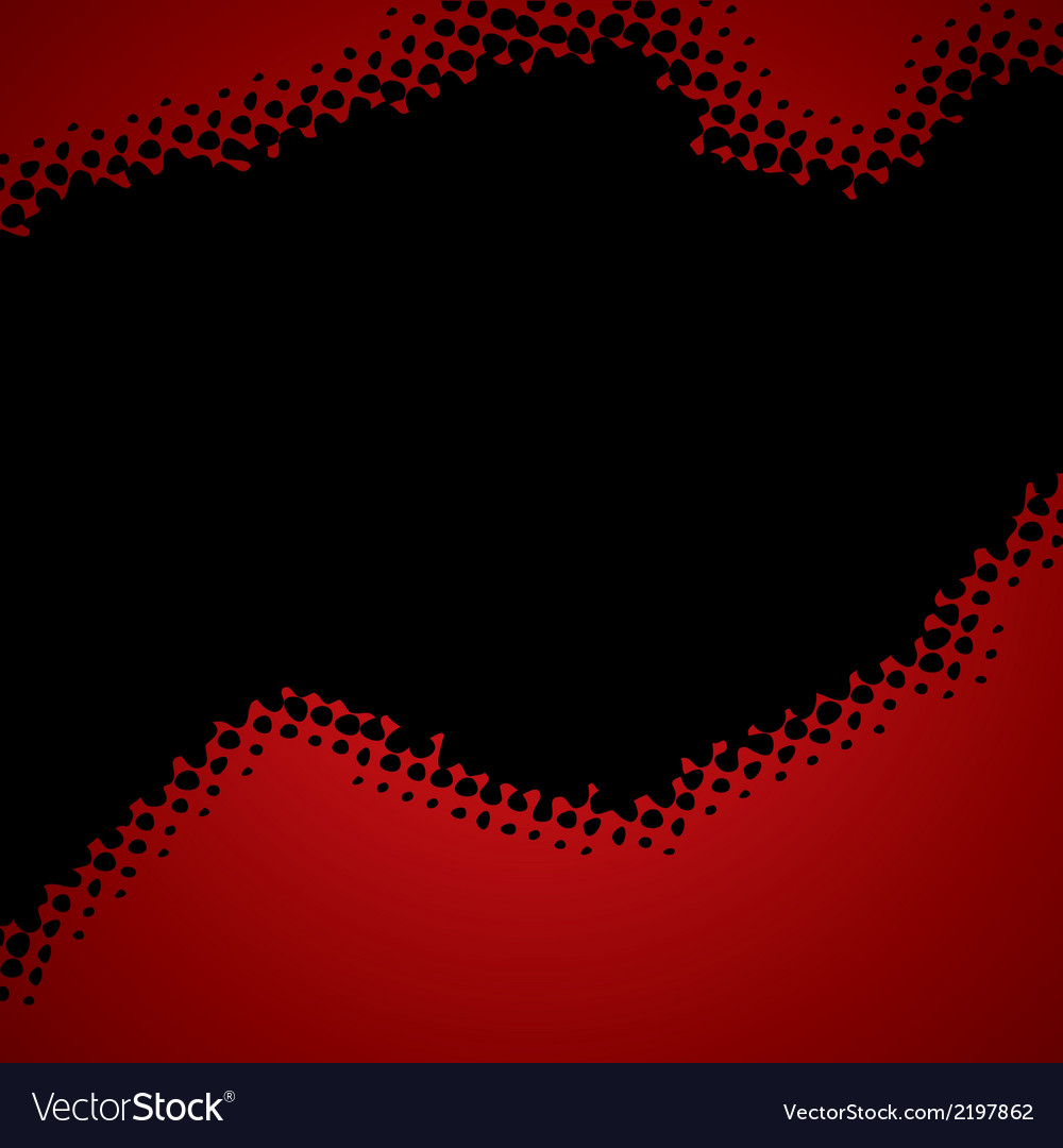 Abstract red-black halftone background vector image