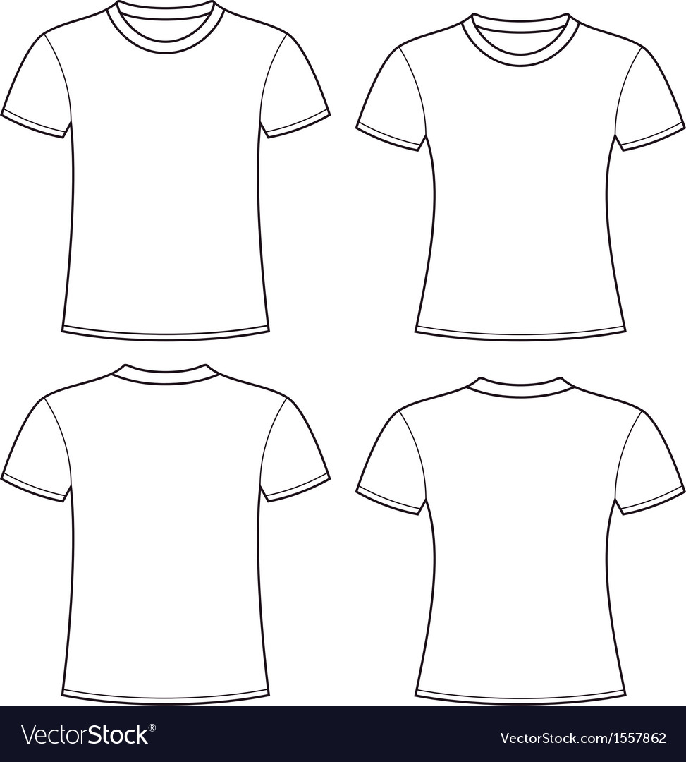 Blank t shirts template royalty free vector image for Blank t shirt design template