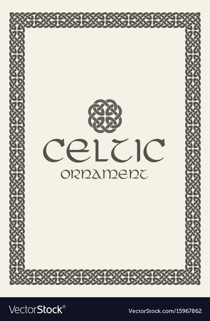 Celtic knot braided frame border ornament