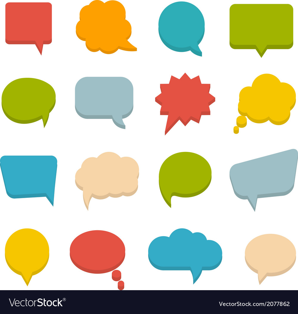 colored communication bubbles royalty free vector image