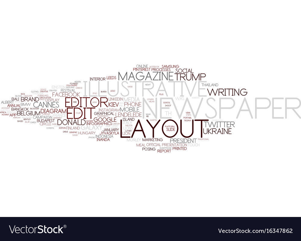 Editorial word cloud concept