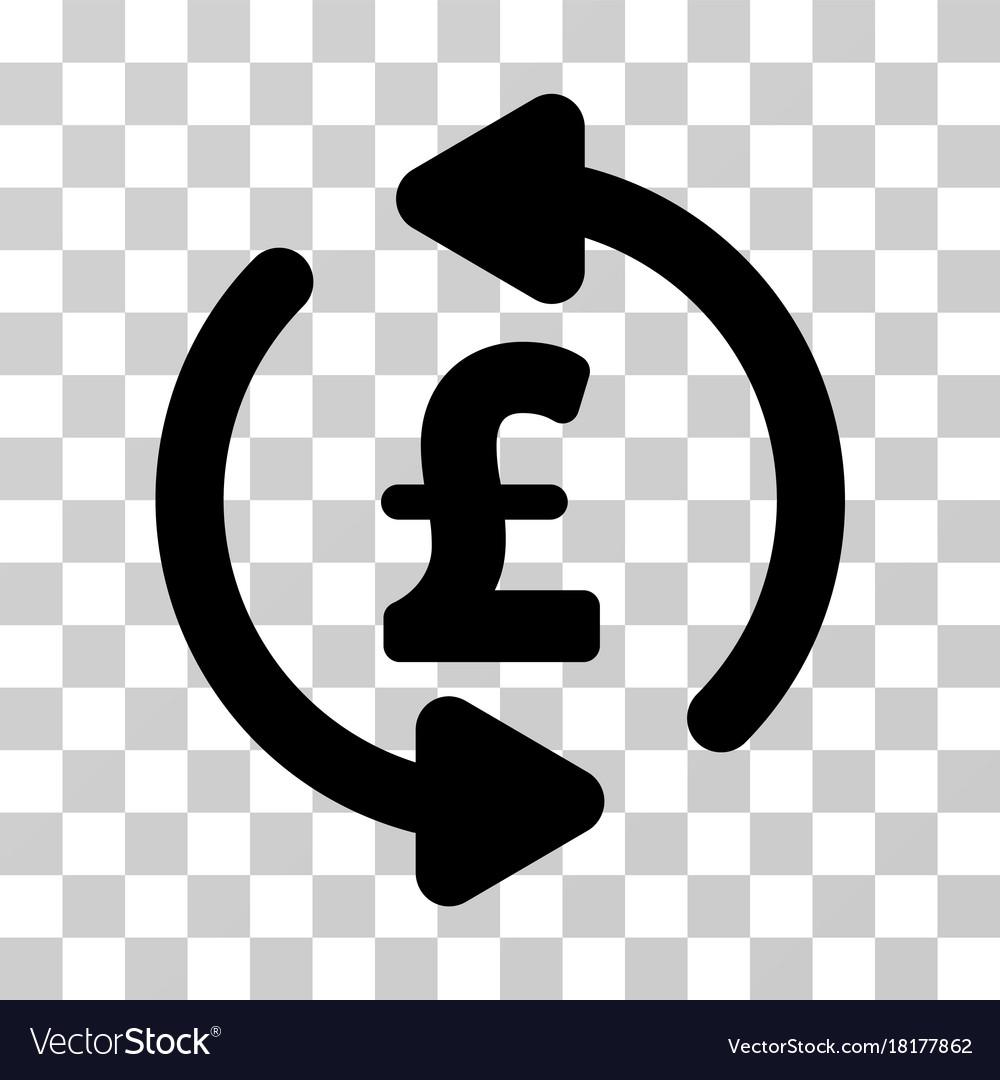Refresh Pound Price Icon Vector Image
