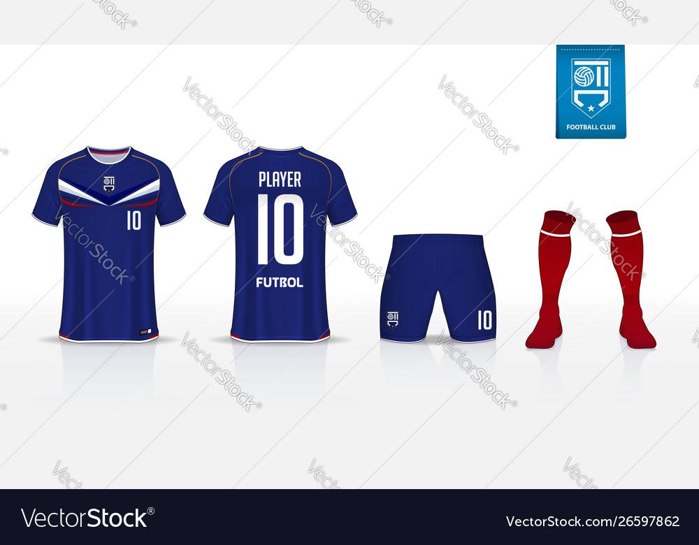 Soccer jersey football kit mockup template design