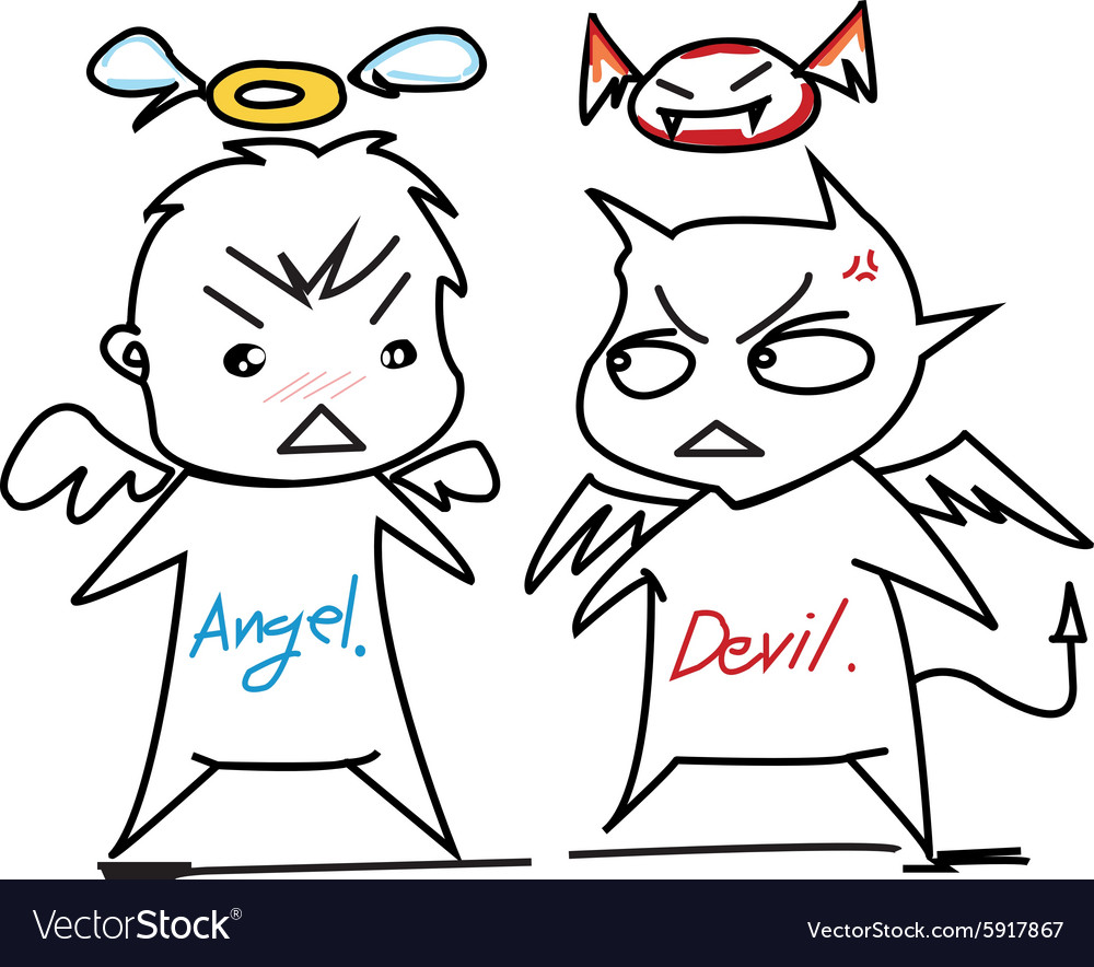 Angel devil vector image