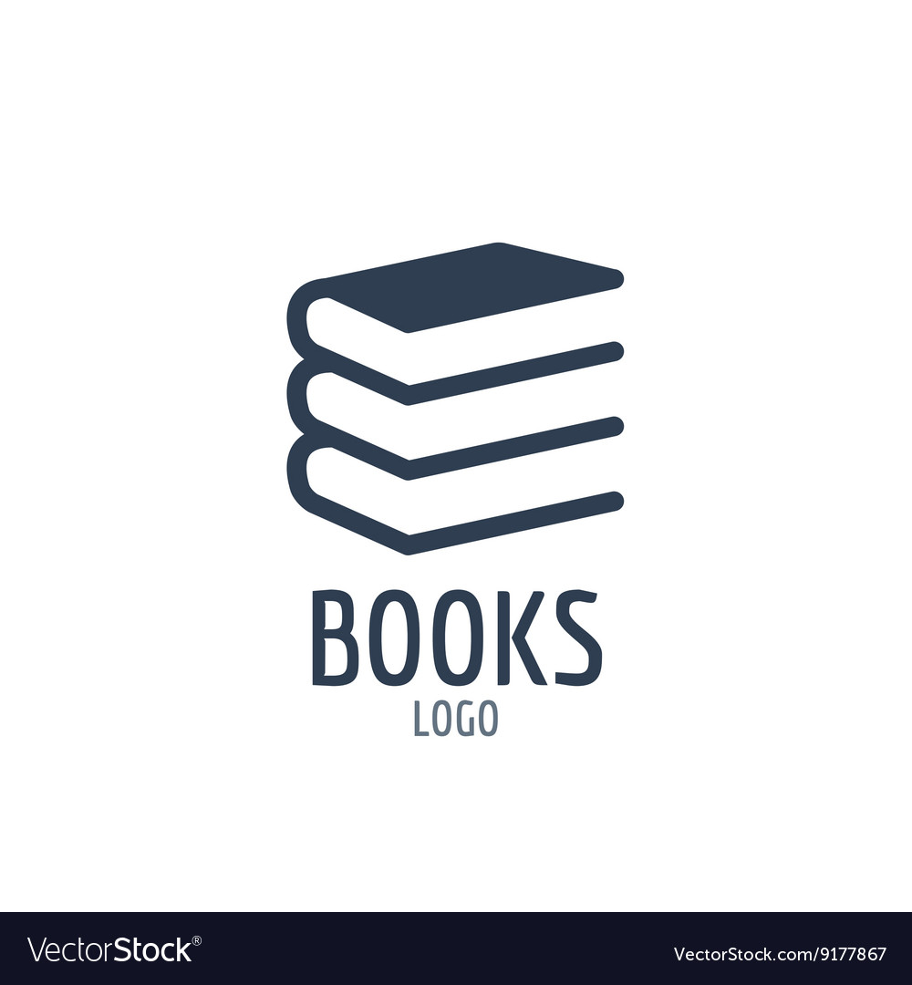 Books icon sign Icon or logo design with three vector image