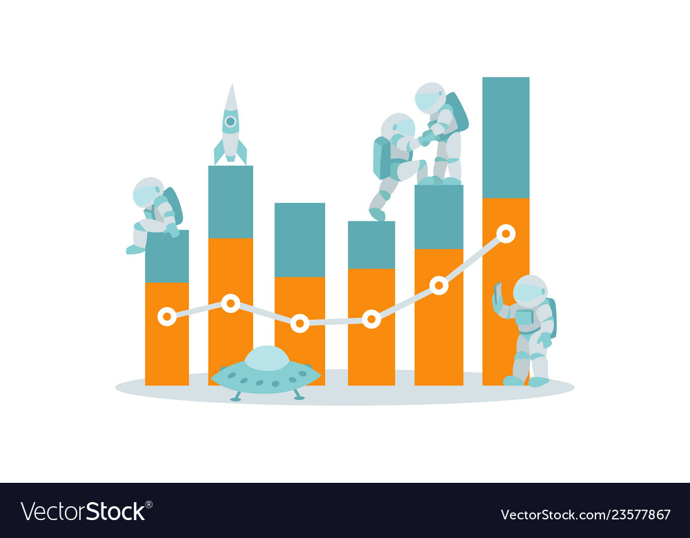 Business and data analysis statistics concept with