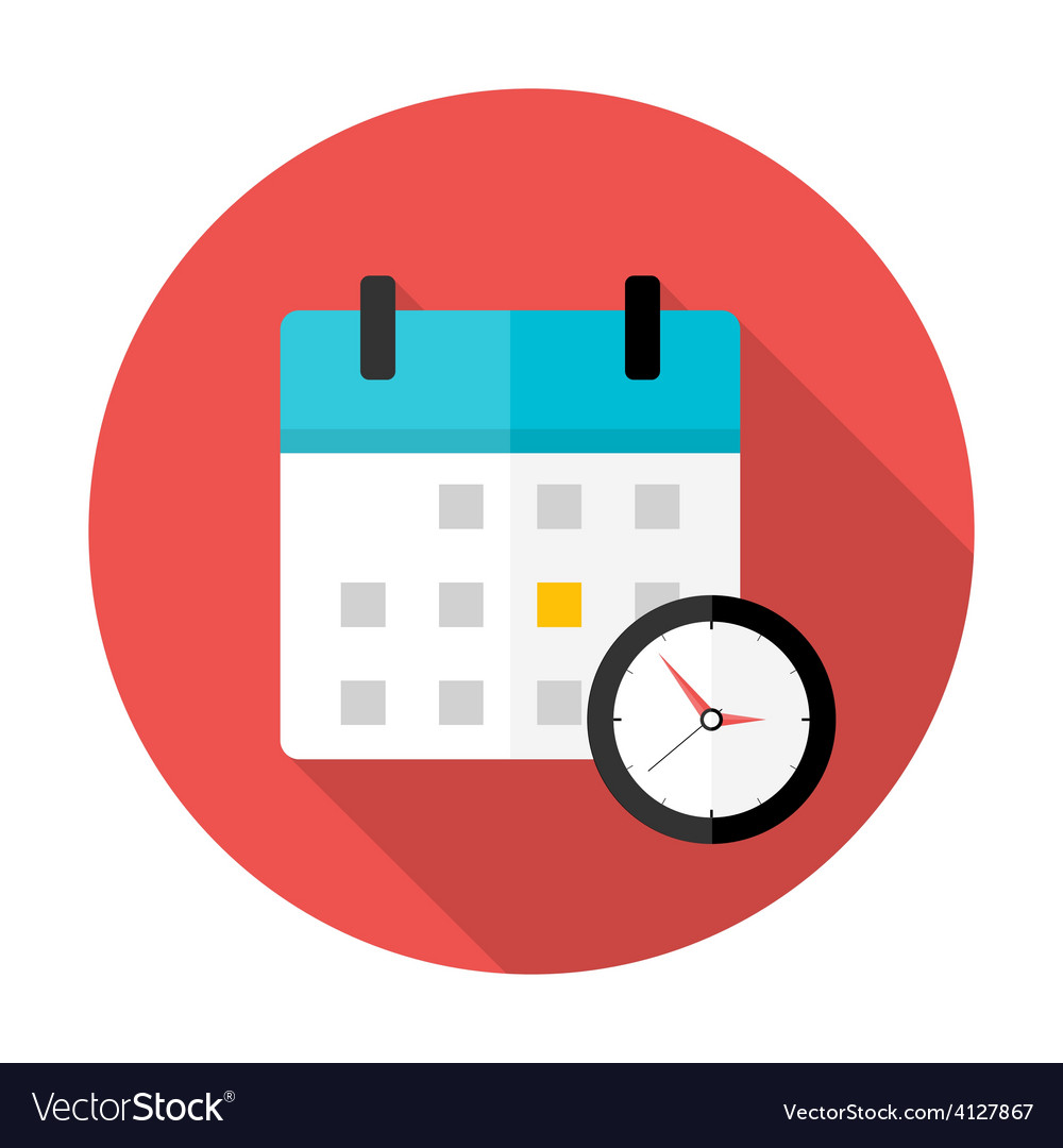 calendar and clock time circle icon royalty free vector rh vectorstock com free vector art calendar icon calendar icon vector cdr