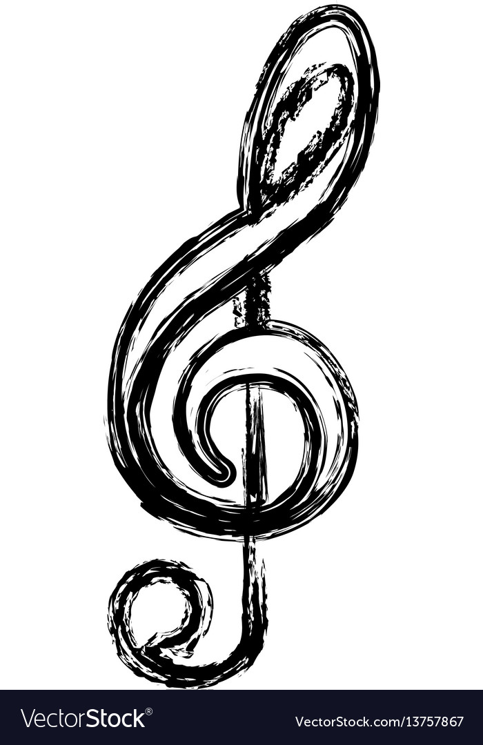 Contour sign music note icon