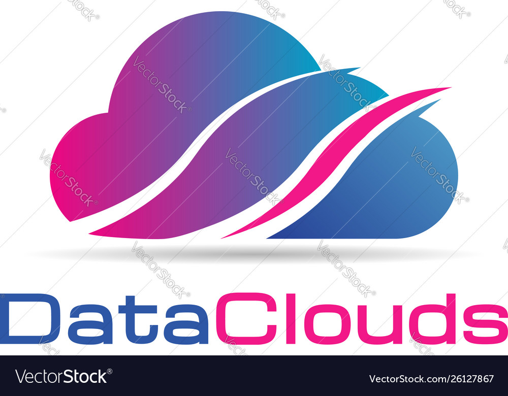 Data clouds logo icon symbol