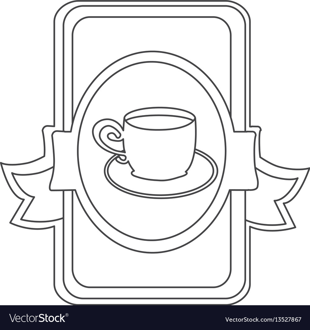 Figure symbol cup with plate icon