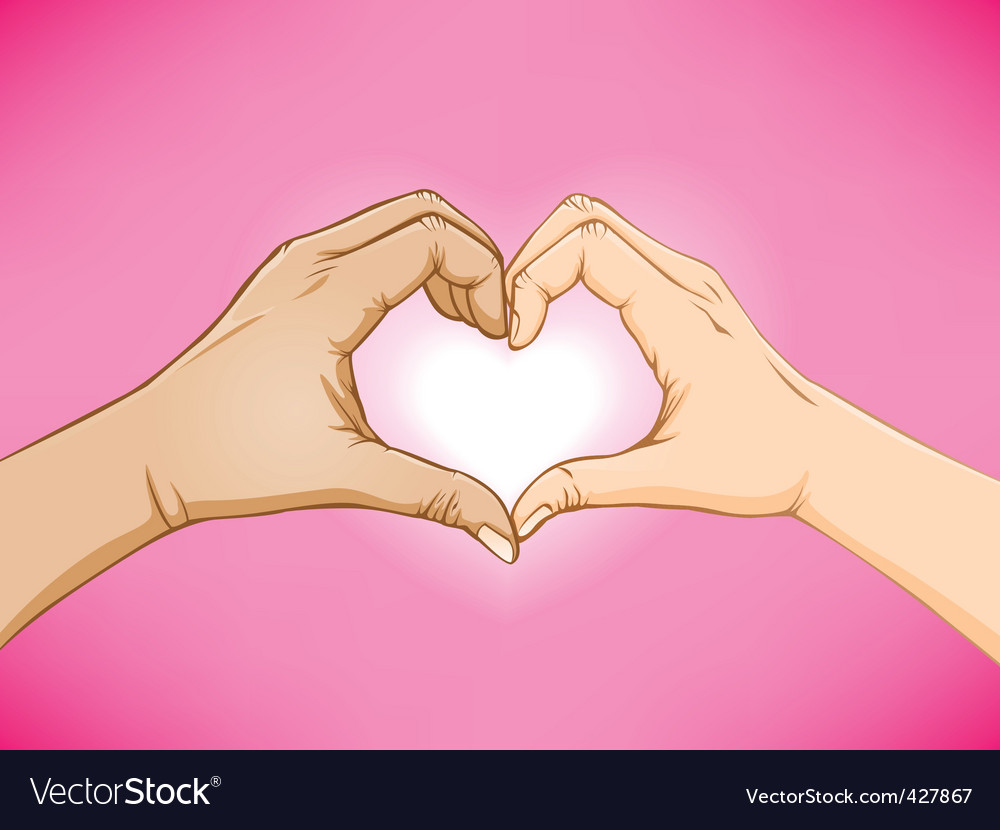 Love hand sign vector image