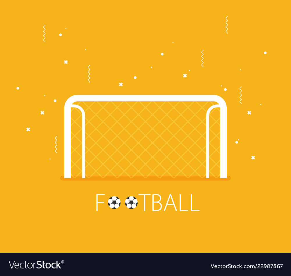 soccer goal flat icon on background royalty free vector