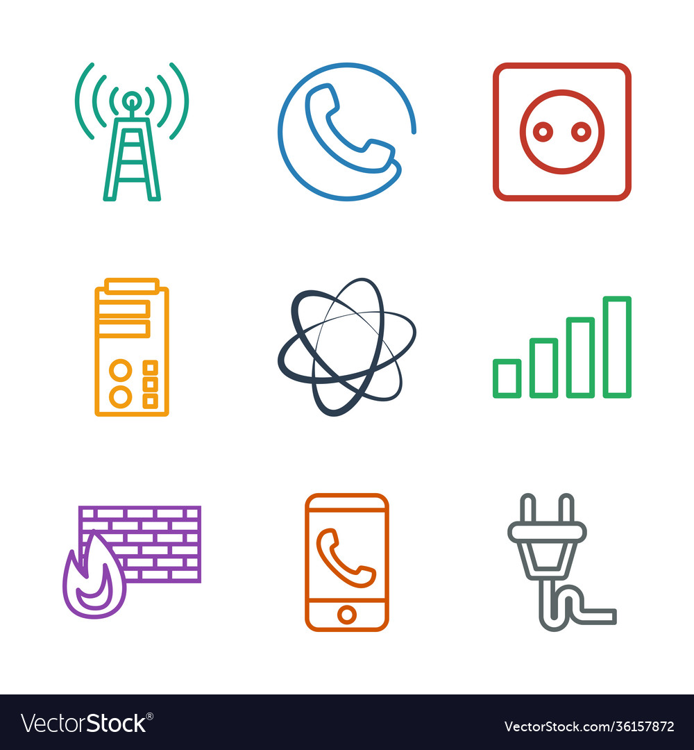 9 connection icons