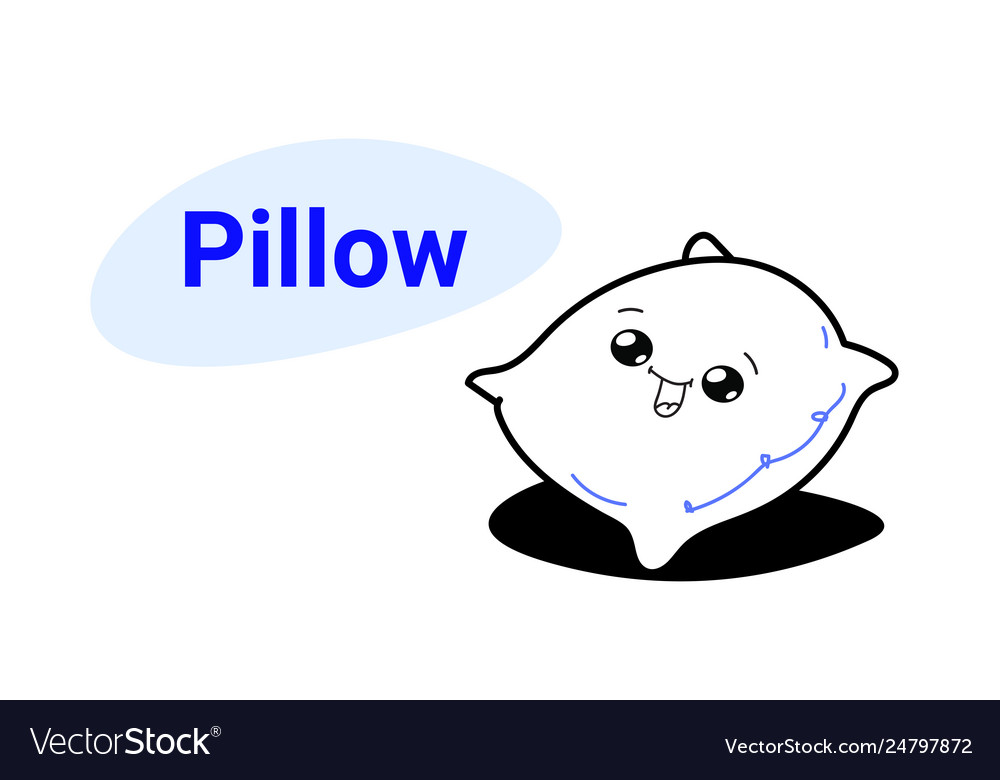 Cute soft bed pillow cartoon comic character