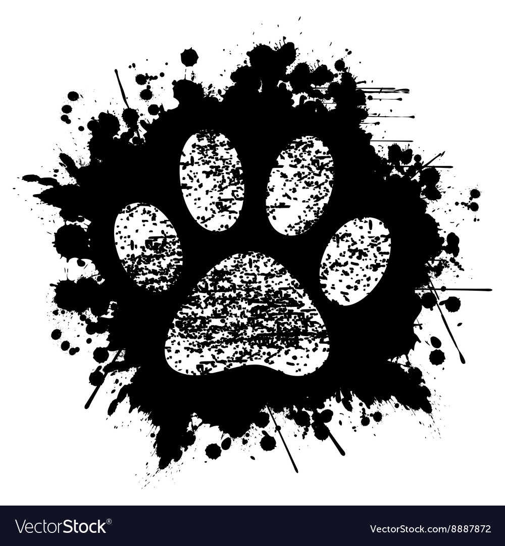 Paw Print-Ink-Background