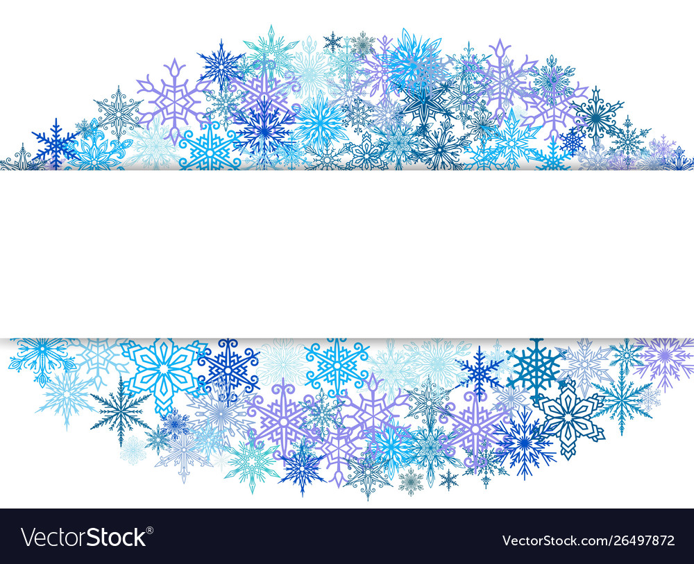 Snowflakes design for winter with place text space