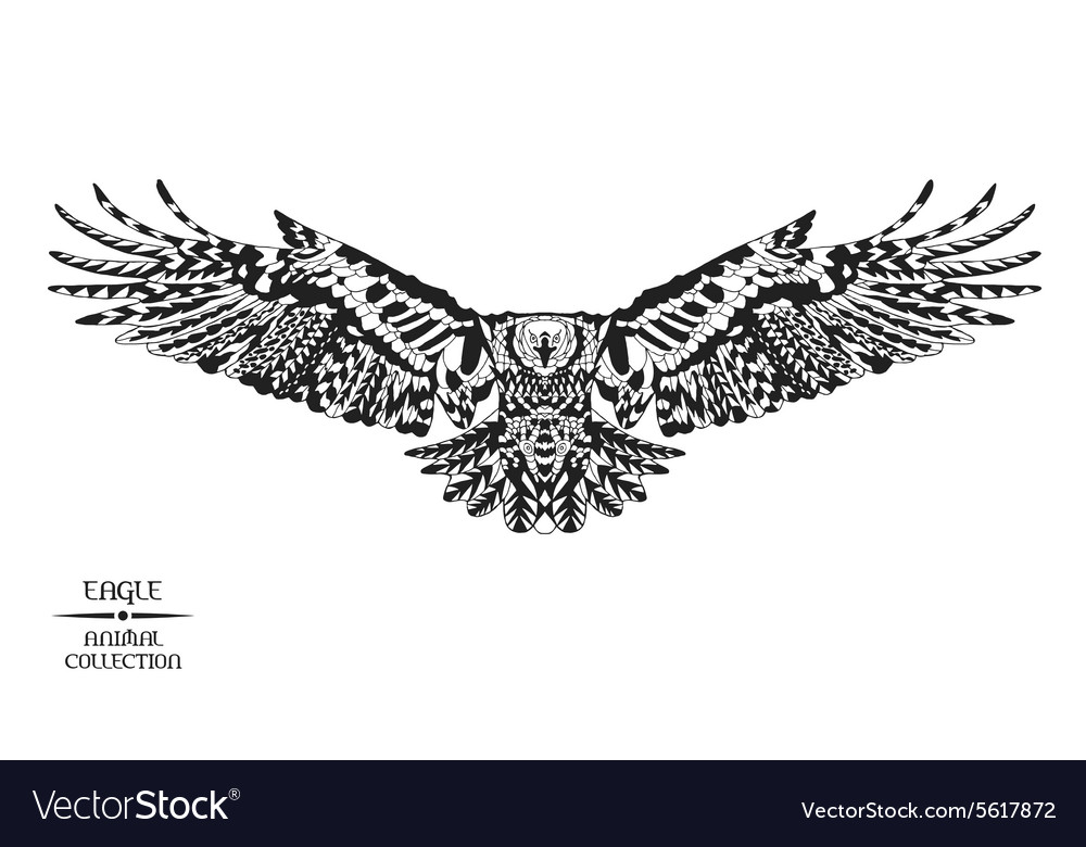 Zentangle stylized eagle Sketch for tattoo or t
