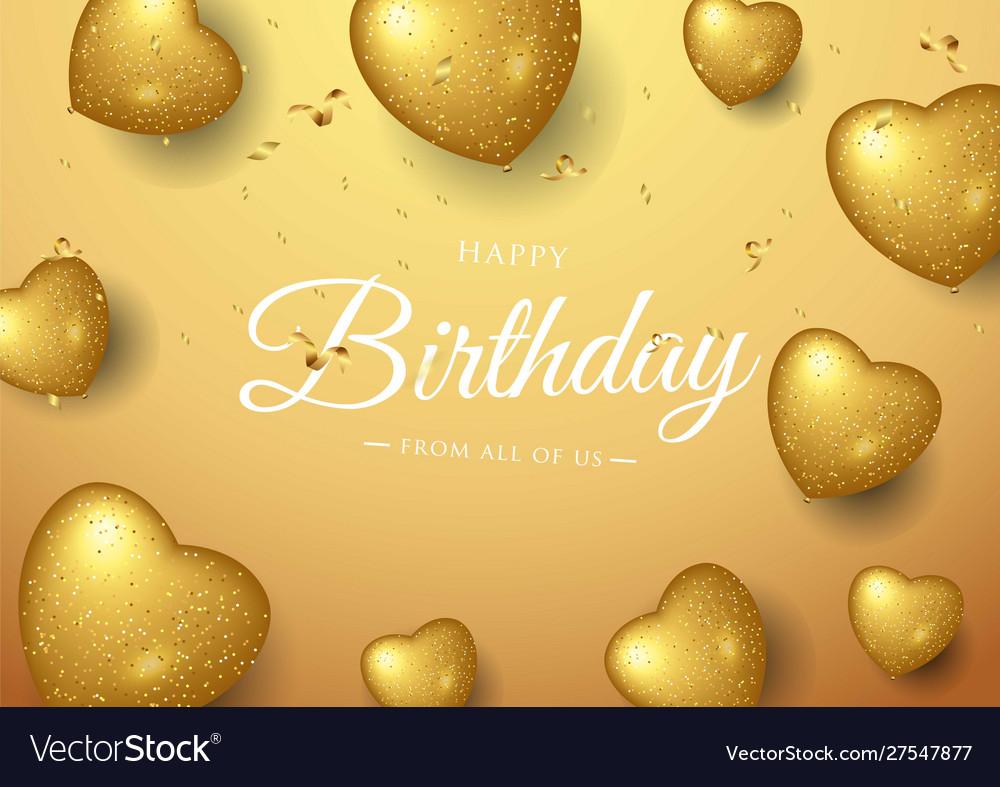 Happy birthday celebration typography design for