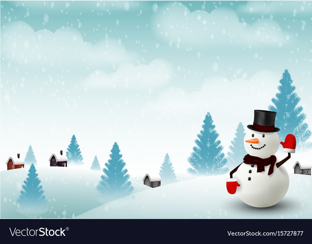 happy snowman christmas background vector 15727877