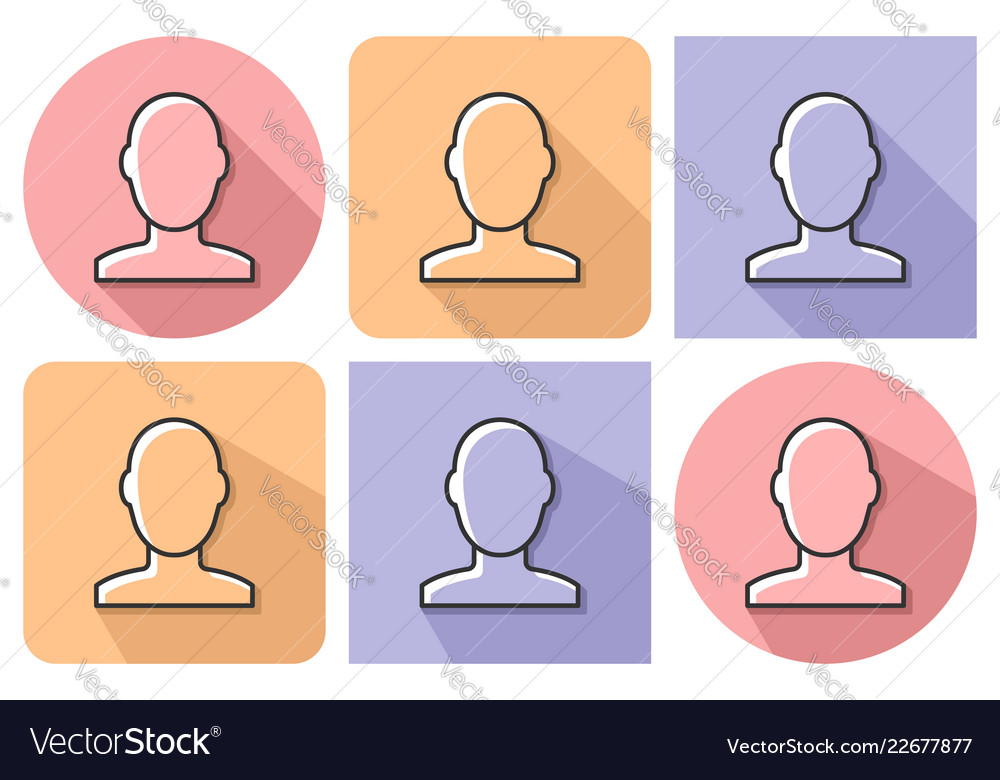 Outlined icon of male user picture with parallel